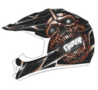 Cyber UX-24 Skull Off Road Helmets For Men's Red View