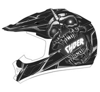 Cyber UX-24 Skull Off Road Helmets For Men's Black View
