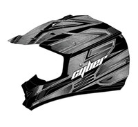 Cyber UX-24 Bandit Off Road Helmets For Men's Silver/Black View