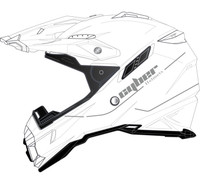 Cyber UX-28 Off Road Helmets For Men's White View