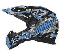 Cyber UX-28 Lightning Off Road Helmets For Men's Black/Blue View