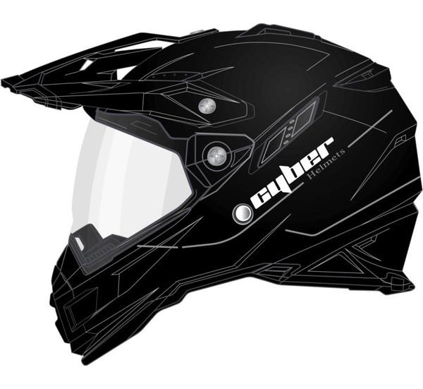 Cyber UX-33 Off Road Helmets For Men's Black View