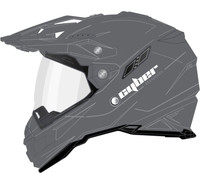 Cyber UX-33 Off Road Helmets For Men's Silver View