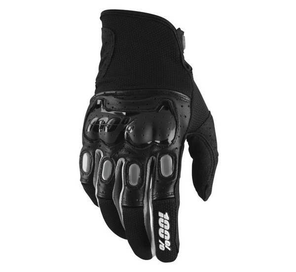100% Men's Derestricted Gloves Black View