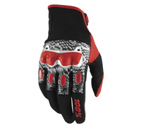 100% Men's Derestricted Gloves Red View