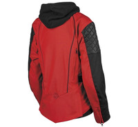 Speed And Strength Women's Double Take Leather-Textile Jacket Red Back View