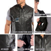 Viking Cycle Gardar Motorcycle Vest for Men All In One