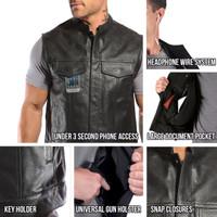 Viking Cycle Gardar Motorcycle Vest for Men All In One