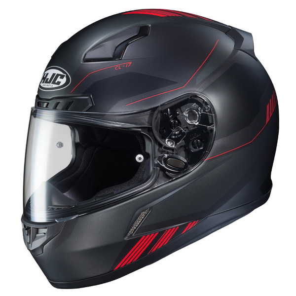 HJX CL-17 Combat Full Face Helmet For Men Black/Red View