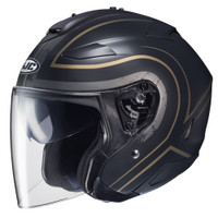 HJC IS-33 II Apus Open Face Helmet For Men Gold/Black View