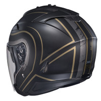 HJC IS-33 II Apus Open Face Helmet For Men Gold/Black Back View
