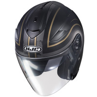 HJC IS-33 II Apus Open Face Helmet For Men Gold/Black Front View
