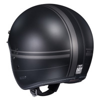 HJC IS-5 Ladon Open Face Helmet For Men Black Back View