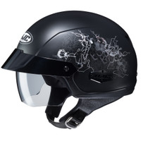 HJC IS- Cruiser Amor Half Face Helmet For Women Black View
