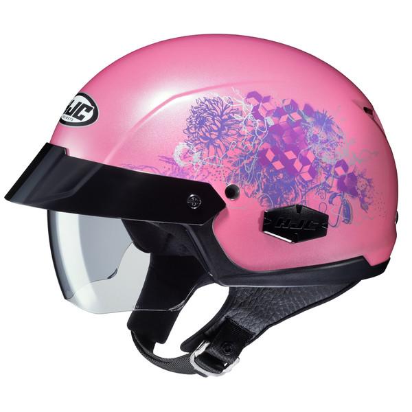 HJC IS- Cruiser Amor Half Face Helmet For Women Pink View