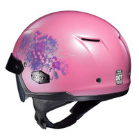 HJC IS- Cruiser Amor Half Face Helmet For Women Pink Back View