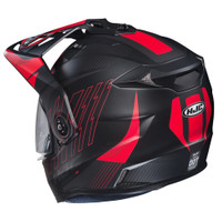 HJC DS-X1 Gravity Full Face Helmet For Men Red Back View