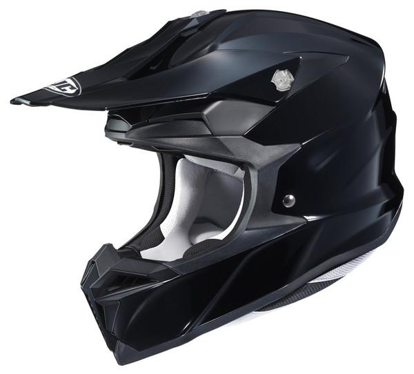 HJC i 50 Solid & Semi-Flat Full Face Helmet For Men Black View