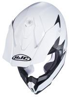 HJC i 50 Solid & Semi-Flat Full Face Helmet For Men White Upper View