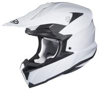 HJC i 50 Solid & Semi-Flat Full Face Helmet For Men White View