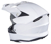 HJC i 50 Solid & Semi-Flat Full Face Helmet For Men White Back View