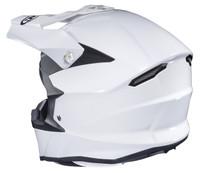 HJC i 50 Solid & Semi-Flat Full Face Helmet For Men White Back View