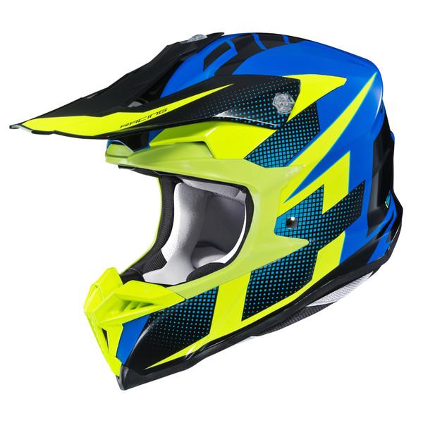 HJC i 50 Argos Full Face Helmet For Men Hi-Viz View