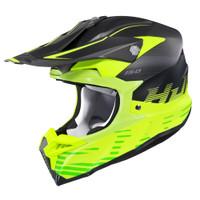 HJC i 50 Fury Full Face Helmet For Men Hi-Viz Side View
