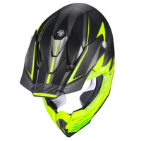 HJC i 50 Fury Full Face Helmet For Men Hi-Viz Top View