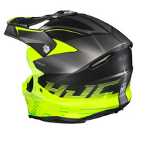 HJC i 50 Fury Full Face Helmet For Men Hi-Viz Back View