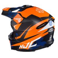 HJC i 50 Tona Full Face Helmet For Men Orange Back View