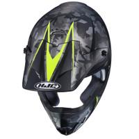 HJC CS-MX II Sapir Full Face Helmet For Men Hi-Viz Top View