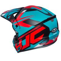 HJC CS-MX II Madax Full Face Helmet For Men Teal Back View