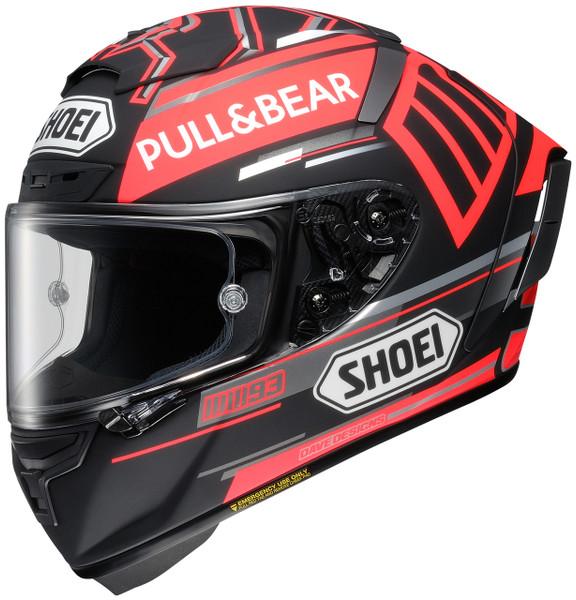 Shoei X-14 Marquez Black Concept Helmet For Men Black/Red Side View