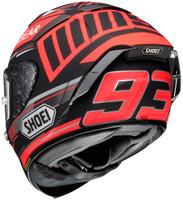 Shoei X-14 Marquez Black Concept Helmet For Men Black/Red Back View