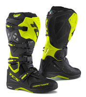 TCX Comp EVO 2 Michelin® MX Enduro High Performance Off Road Racing Boots Black/Hi-Viz Yellow View