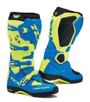 TCX Comp EVO 2 Michelin® MX Enduro High Performance Off Road Racing Boots Royal Blue/Yellow Flo View