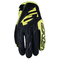 Five MXF3 Off Road Motocross Gloves Yellow View