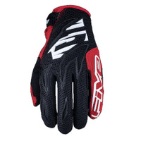 Five MXF3 Off Road Motocross Gloves Red View