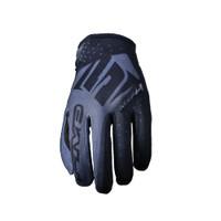 Five MXF4 Motocross Off Road Gloves Black View
