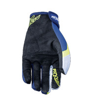 Five MXF4 Motocross Off Road Gloves Blue Palm View