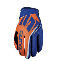 Five MXF4 Motocross Off Road Gloves Orange View