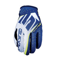 Five MXF4 Motocross Off Road Gloves Blue View