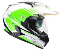 Vega Cross Tour 2 Dual Sport Helmet For Men Green View