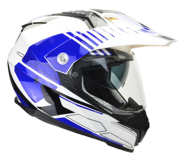 Vega Cross Tour 2 Dual Sport Helmet For Men Blue View