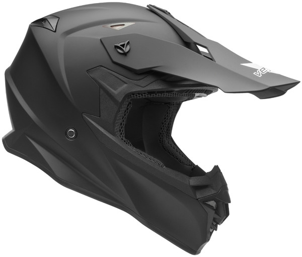 Vega V-Flo Off Road Helmets For Men's Matte Black View