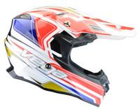 Vega V-Flo Off Road Helmets For Men's Red/White/Blue View