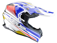Vega V-Flo Off Road Helmets For Men's Blue/Red/White View
