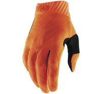 100% Men's Ridefit Gloves Fluorescent Orange/Black View