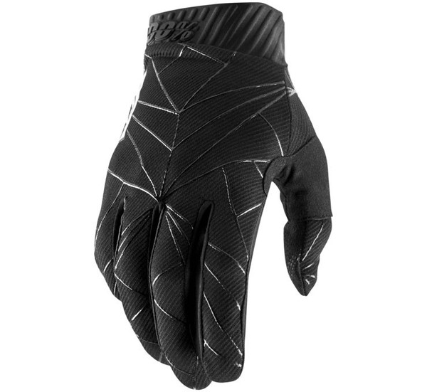 100% Men's Ridefit Gloves Black/White View